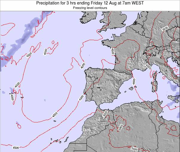 Portugal Precipitation for 3 hrs ending Saturday 02 Aug at 1am WEST