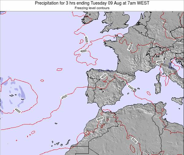 Portugal Precipitation for 3 hrs ending Wednesday 13 Dec at 6pm WET map
