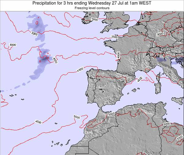 Portugal Precipitation for 3 hrs ending Thursday 29 Sep at 7am WEST