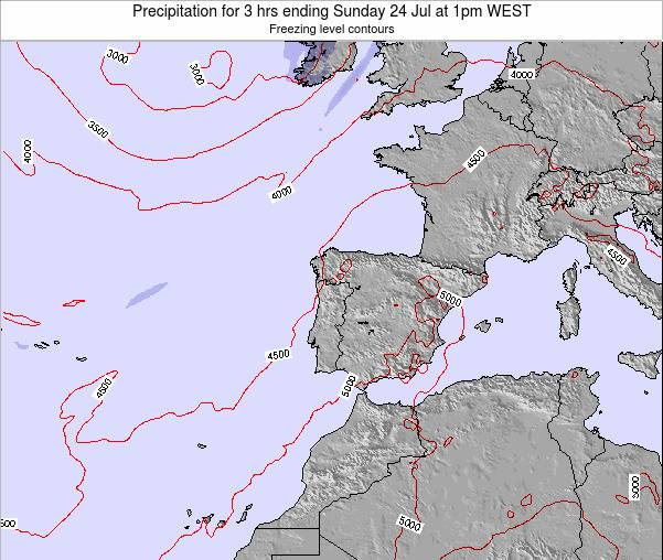 Portugal Precipitation for 3 hrs ending Thursday 05 Mar at 12am WET