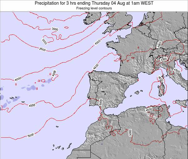 Portugal Precipitation for 3 hrs ending Sunday 26 May at 7am WEST