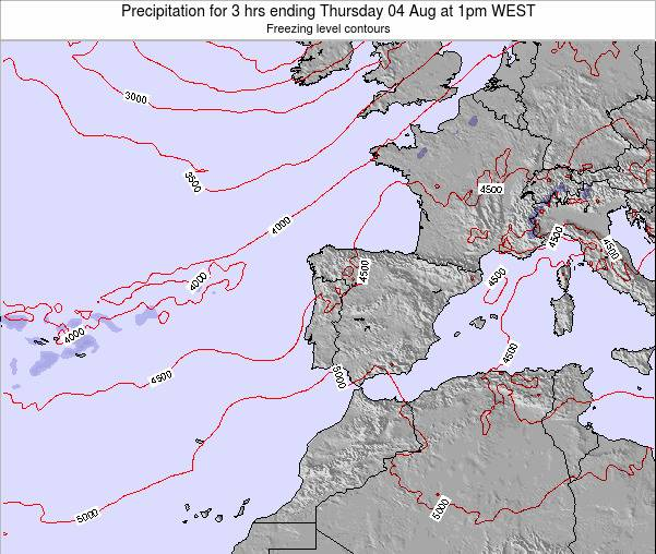 Portugal Precipitation for 3 hrs ending Sunday 23 Jun at 7am WEST
