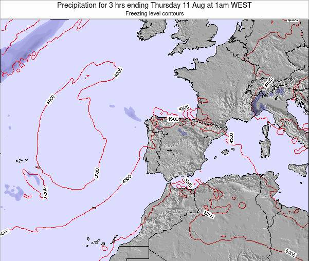 Portugal Precipitation for 3 hrs ending Sunday 26 May at 1am WEST map
