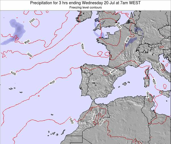 Portugal Precipitation for 3 hrs ending Thursday 26 Dec at 12am WET map