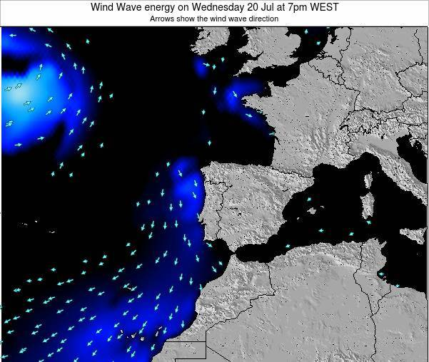 Portugal Wind Wave energy on Thursday 23 May at 1pm WEST