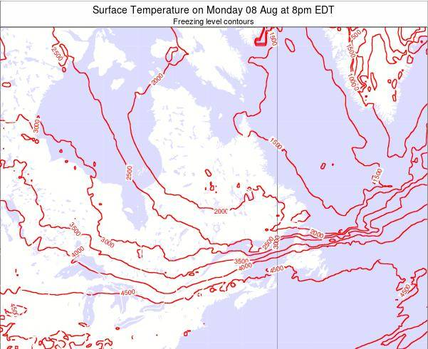 Quebec Surface Temperature on Sunday 26 May at 8am EDT map