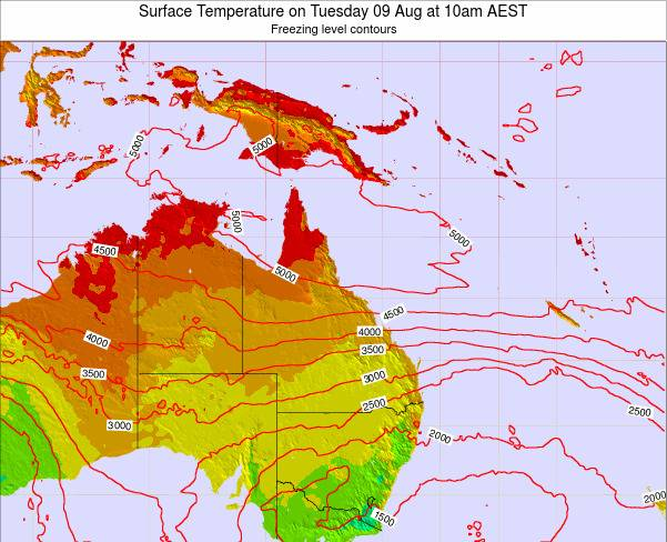 Queensland Surface Temperature on Tuesday 25 Jun at 4am EST