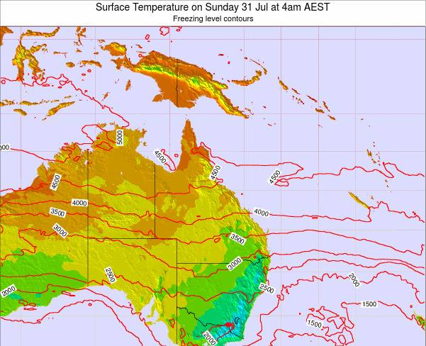 Queensland Surface Temperature on Thursday 30 May at 4pm EST