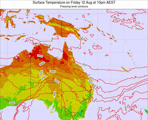 Queensland Surface Temperature on Friday 31 May at 10pm EST