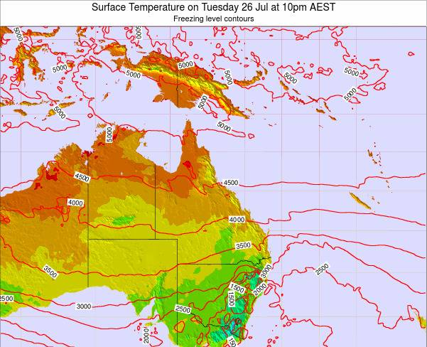 Queensland Surface Temperature on Wednesday 26 Jun at 10am EST