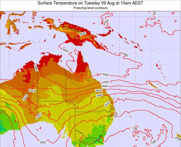 Queensland Surface Temperature on Thursday 23 May at 4am EST