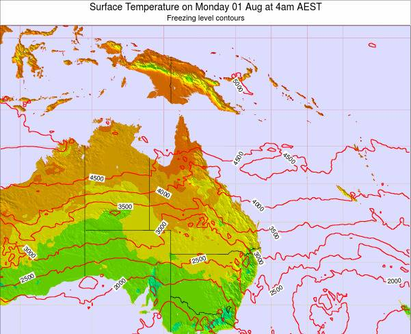 Queensland Surface Temperature on Sunday 26 May at 10pm EST