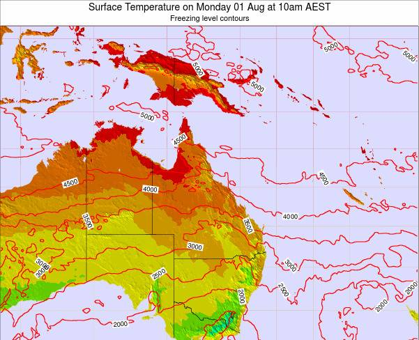 Queensland Surface Temperature on Monday 10 Dec at 4am AEST map