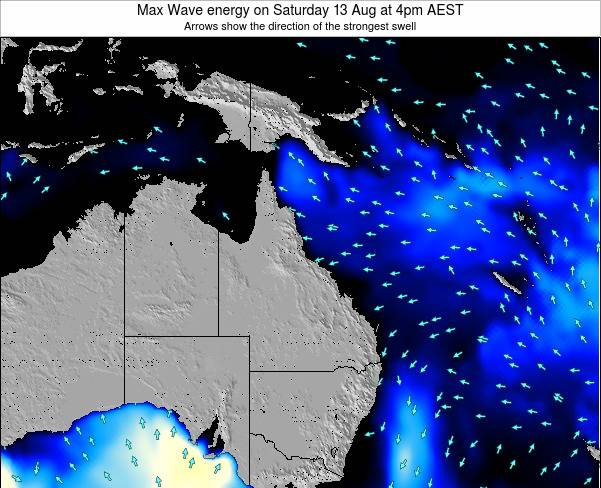 Queensland Max Wave energy on Thursday 30 May at 10am EST
