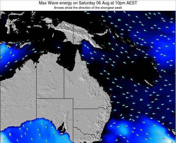 Queensland Max Wave energy on Friday 24 May at 4pm EST
