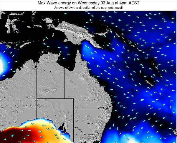 Queensland Max Wave energy on Saturday 25 May at 4am EST