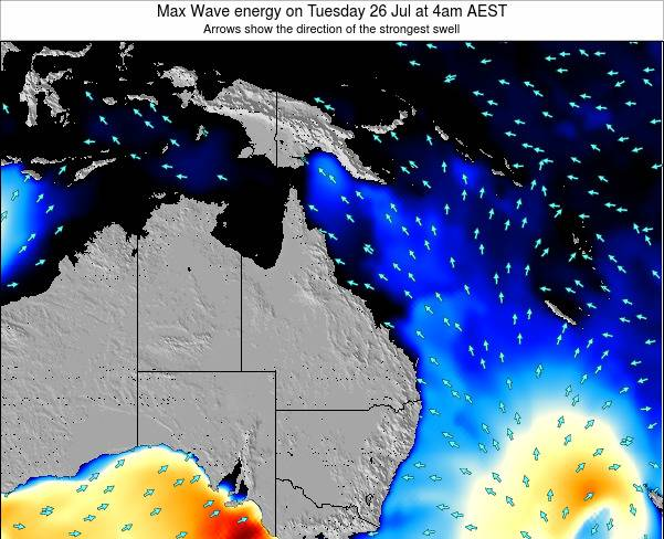 Queensland Max Wave energy on Friday 21 Jun at 4pm EST