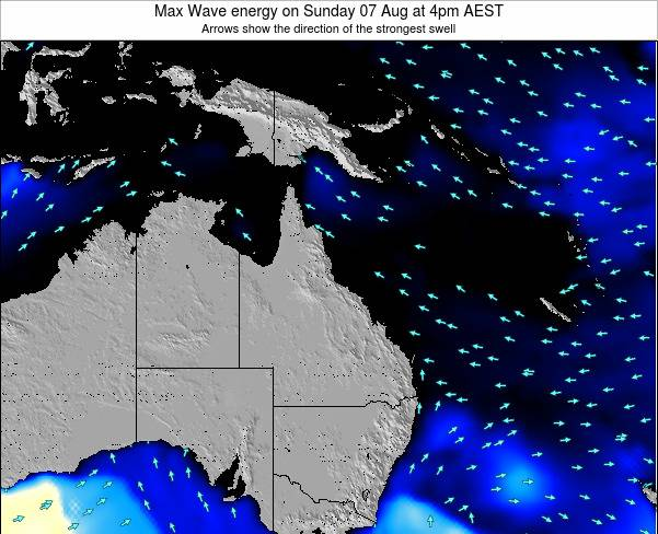 Queensland Max Wave energy on Friday 24 May at 4am EST
