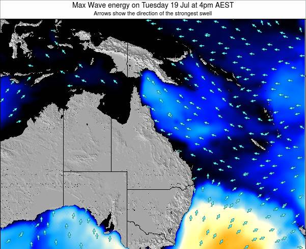 Queensland Max Wave energy on Wednesday 29 May at 10am EST