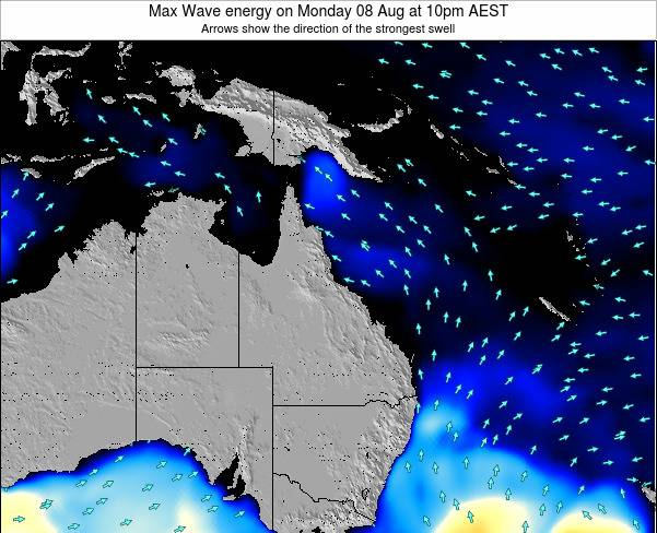 Queensland Max Wave energy on Thursday 23 May at 4pm EST