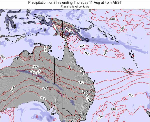 Queensland Precipitation for 3 hrs ending Monday 27 May at 10pm EST map