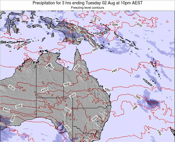 Queensland Precipitation for 3 hrs ending Friday 24 May at 10am EST map