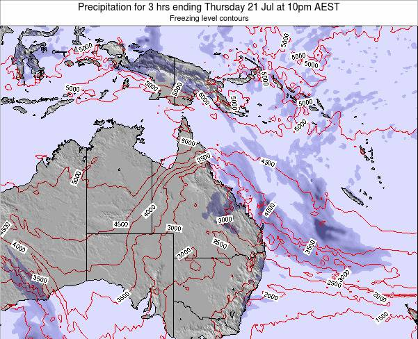 Queensland Precipitation for 3 hrs ending Friday 31 May at 10am EST map