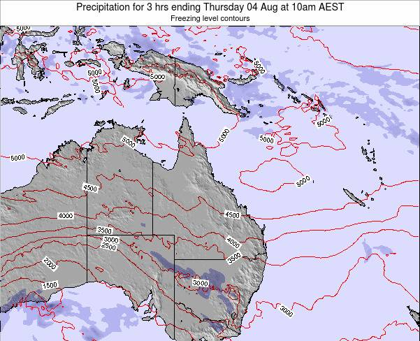 Queensland Precipitation for 3 hrs ending Saturday 01 Jun at 4am EST map