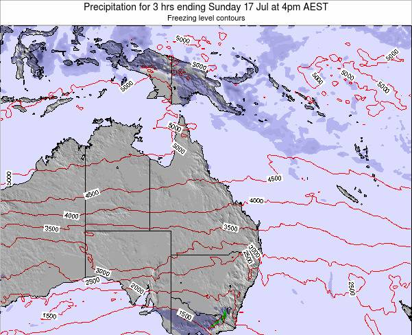 Queensland Precipitation for 3 hrs ending Sunday 26 May at 4am EST map