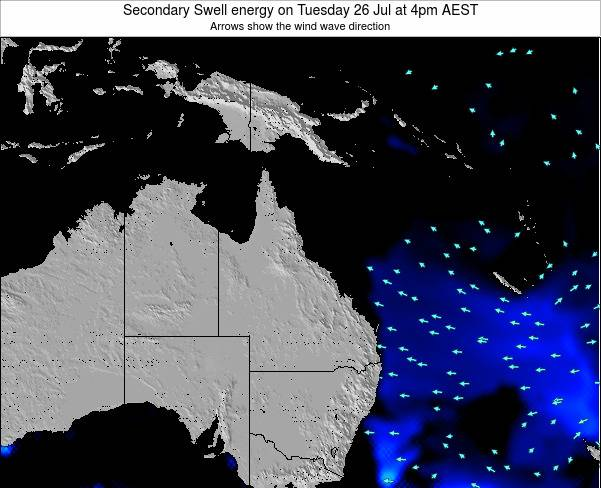 Queensland Secondary Swell energy on Thursday 06 Nov at 10pm EST
