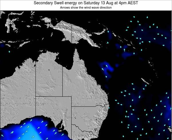 Queensland Secondary Swell energy on Friday 01 Aug at 10am EST