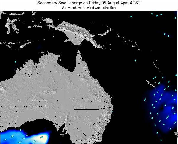 Queensland Secondary Swell energy on Friday 13 Dec at 10pm EST
