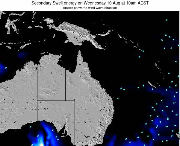 Queensland Secondary Swell energy on Saturday 26 Apr at 4am EST