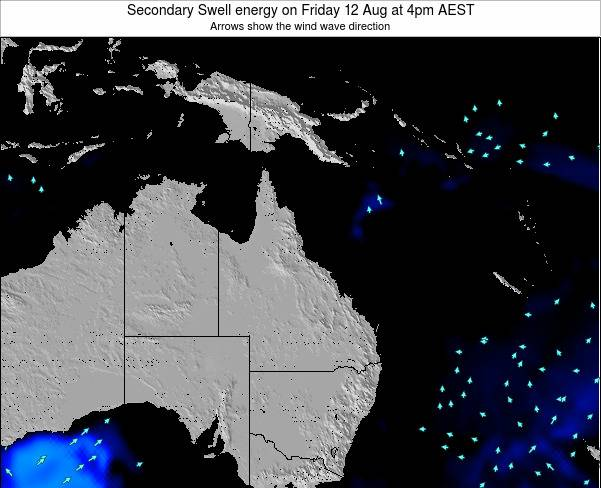 Queensland Secondary Swell energy on Friday 31 Mar at 10am AEST