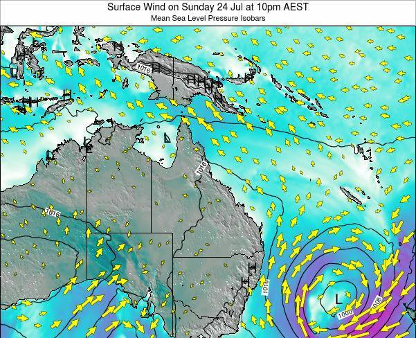 Queensland Surface Wind on Monday 27 May at 4am EST