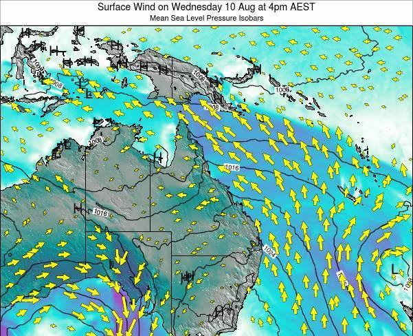 Queensland Surface Wind on Friday 24 May at 4am EST