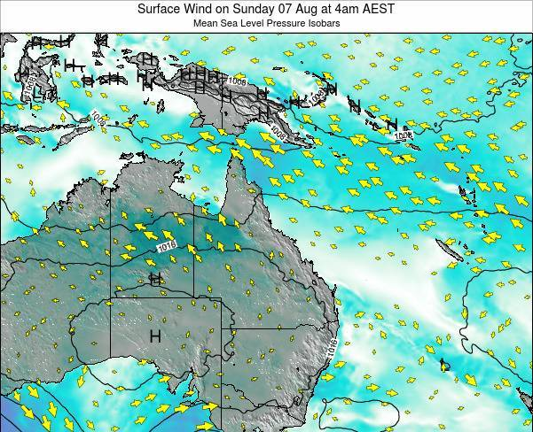 Queensland Surface Wind on Friday 14 Mar at 10am EST