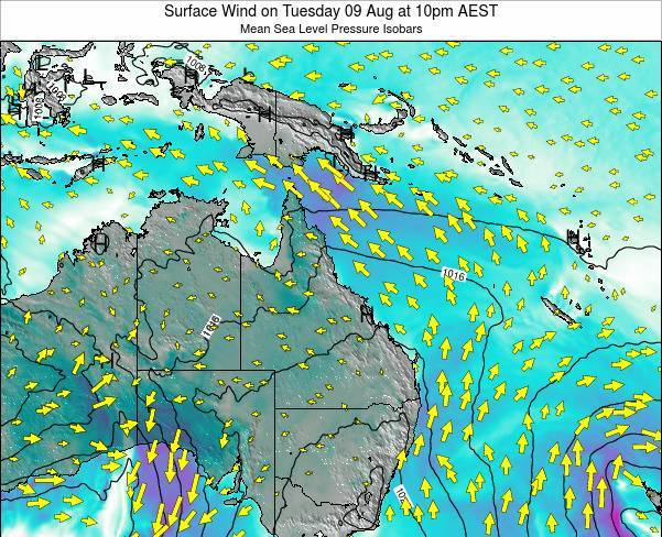 Queensland Surface Wind on Wednesday 26 Jun at 10am EST