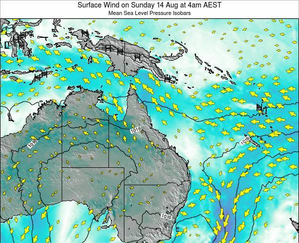Queensland Surface Wind on Sunday 26 May at 4am EST