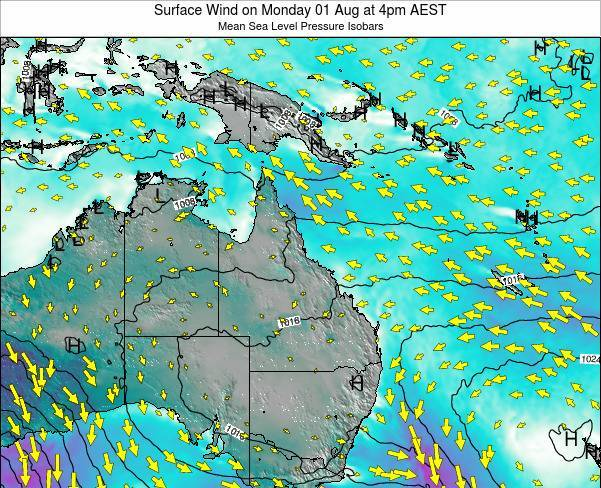 Queensland Surface Wind on Wednesday 03 Sep at 4am EST
