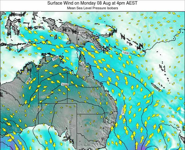 Queensland Surface Wind on Wednesday 29 Jul at 10am AEST