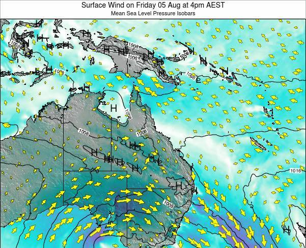 Queensland Surface Wind on Thursday 31 Jul at 10am EST