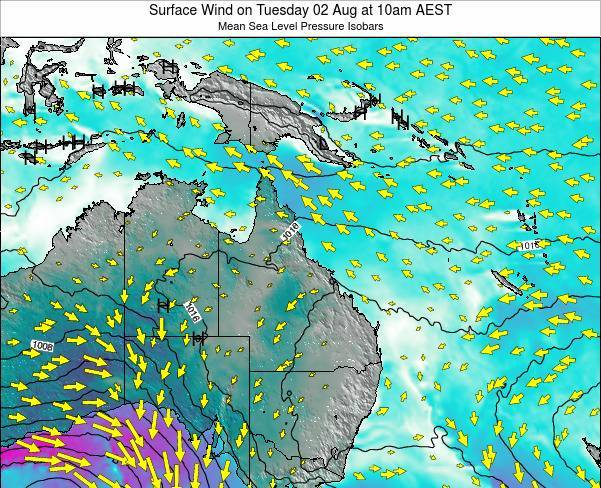 Queensland Surface Wind on Sunday 29 May at 4am AEST