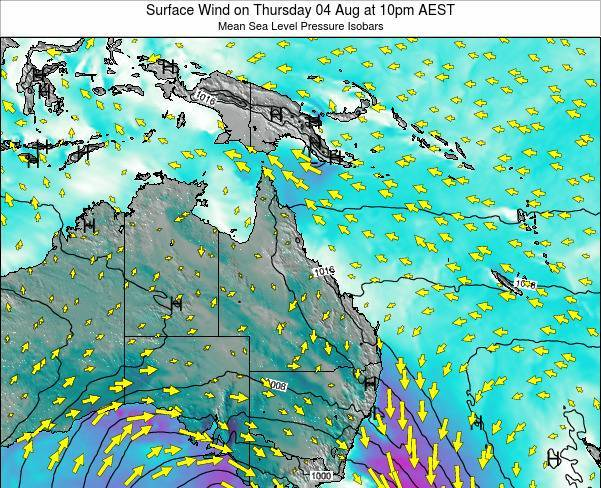 Queensland Surface Wind on Wednesday 22 May at 4am EST
