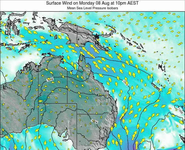 Queensland Surface Wind on Thursday 12 Dec at 10am EST