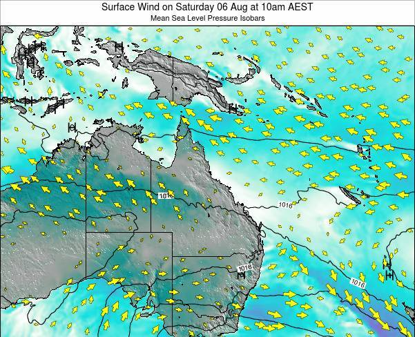 Queensland Surface Wind on Monday 29 Aug at 10am AEST