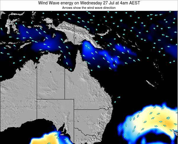 Queensland Wind Wave energy on Thursday 30 May at 4pm EST
