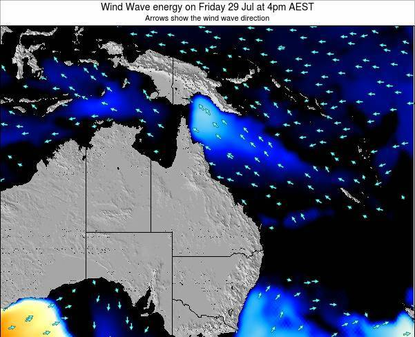 Queensland Wind Wave energy on Wednesday 30 Apr at 4am EST