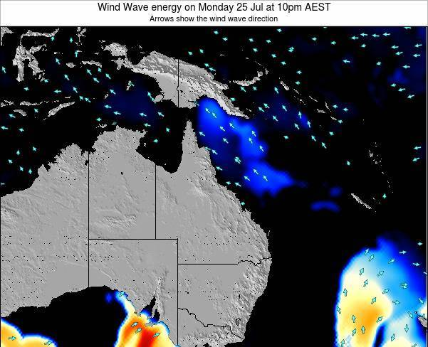 Queensland Wind Wave energy on Friday 09 Dec at 4pm AEST