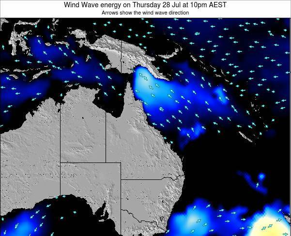 Queensland Wind Wave energy on Friday 25 Apr at 10pm EST